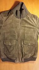 bellissima giacca camoscio pelle SARTORIA LEONI MASSIMO REBECCHI, 50, uomo