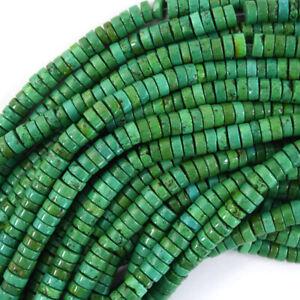 "Green Turquoise Heishi Disc Beads Gemstone 15.5"" Strand S2 4mm 6mm 8mm"