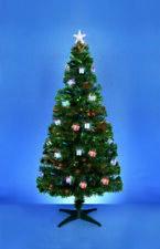 Premier Christmas Fibre Optic Tree with Colour Changing Parcels - 120cm/1.2m/4ft