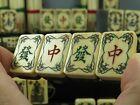 Rare Antique 1920's Elaborately Carved Ebony Mahjong Mahjongg Set US Patent 1923
