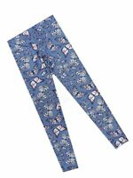 F&F Girls Blue Mix Butterfly motif leggings Ages  6 7 8 10 12 13 14 BRAND NEW