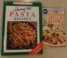 HURRY-UP PASTA RECIPES 1993 HC 1ST ED & PILLSBURY PASTA JUNE 1998 PB COOKBOOKS