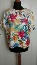 Papaya Weekend Women's Ladies Floral Office/Party Top Blouse Size 16 VGC