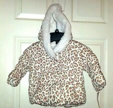 CARTERS Infant Girl Fleece Lined Hood Cheetah Winter...