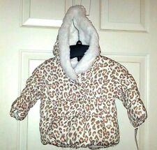 CARTER'S Baby Girl Infant Fleece Lined Hood Cheetah Jacket WinterCoat 18Mth NWT