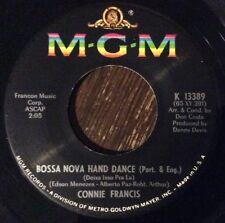 CONNIE FRANCIS Bossa Nova Hand Dance 45, 1965 POPCORN SOUL MGM K 13389 NEAR MINT