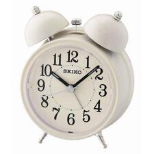 Seiko QHK035C Bell Alarm Clock with Light and Snooze Cream