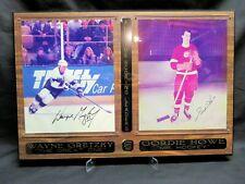 WAYNE GRETZKY and GORDIE HOWE, Signed 8x10 Photos on Plaque, COA