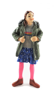 Dolls House People Modern Girl in Parka 1:12 Scale Resin Figure