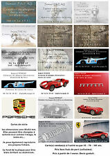 CREATION CARTES DE VISITE 85X54 MM OU AUTRE EN ALUMINIUM FOND BLANC BRILLANT ALU