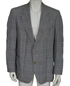 The British Tailor Dormeuil Tartan Check Wool Blazer Men's Size 44R