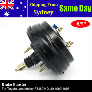 "NEW 8/9"" Dual Brake Booster For Landcruiser FZJ80 HDJ80 4 Bolt 90-97 44610-60763"