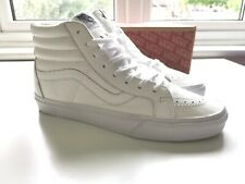 Vans SK8-Hi Reissue - Premium Leather - True White - UK 10 - BNIB