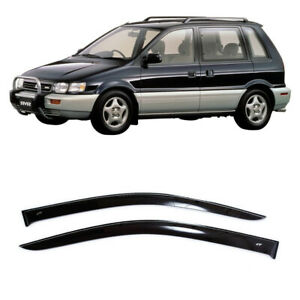 For Mitsubishi RVR 1991-1997 Window Side Visors Sun Rain Guard Vent Deflectors
