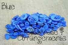 BLUE - Mixed Bulk Buttons 250+ Craft Scrapbooking Bouquet Mixed Colours