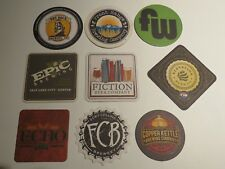 9 Beer Coasters ~ Ft Collins Brewery,FunkWerks,Fiction,Dry Dock,Epic,Elevation +