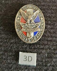 Vintage Type 3d Sterling Silver Eagle Boy Scout Hat Pin Medal Award Rank