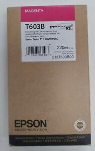 Epson ink T603B Magenta 220ml Ink For Epson Stylus Pro 7800 & 9800 exp 2019/10