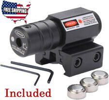 Tactical Red Laser Beam Dot Sight Scope For Gun Rail Pistol Weaver Us
