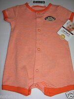 Carter's Infant Baby Boy's Creeper Romper Silly Monkey NB 3M 6M 9M $12. NWT