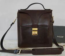BALLY Vintage Burgundy Leather Convertible Satchel Crossbody Shoulder Bag