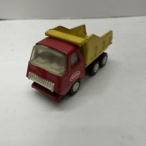 """VINTAGE Tonka 5"""" Metal Yellow And Red Small Dump Truck"""