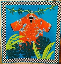 """FROM MY PRIVATE COLLECTION HILO HATTIES HAWAIIAN SHIRT QUILT CUSTOM 46.5""""X44.25"""""""