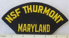 NSF THURMONT MARYLAND - US NAVY NAVAL SUPPORT FACILITY CAP PATCH HAT INSIGNIA