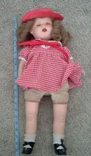 """VINTAGE HORSMAN COMPOSITION HEAD SLEEPY EYES OPEN MOUTH WITH TEETH DOLL 21"""""""