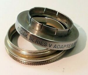 """Kodak series 5 V Adapter Filter Holder 15/16"""" 23.5mm with retaining ring"""