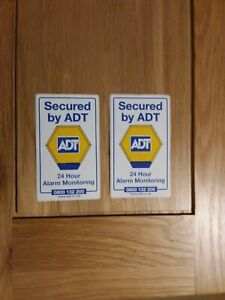 Adt Sticker Secured By Adt 24 Hour Alarm Monitoring