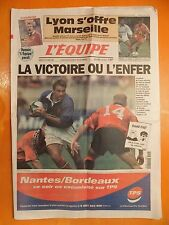 L'équipe N° 16622 du 16/10/1999-Le Quinze de France-les Fidji-Lyon-Marseille
