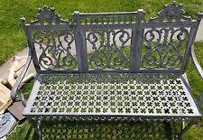 William Adams Antique Cast Iron Garden Furniture Bench Antique 1800's