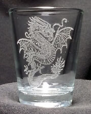 3 Dragon etched shot glasses. Can be personalized. Different designs available!!