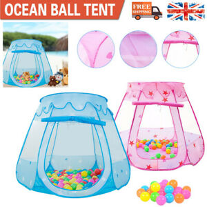 Starry Pop Up Fun Play Tent Playhouse For Girls Kids Baby Children Ball Pit Gift