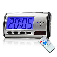 Mini Spy Camera Alarm Clock Micro Hidden Nanny Cam Motion Detection DV DVR Video