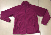 Women's Columbia Core Interchange Sz M Purple Pink Fleece Full Zip Jacket Winter