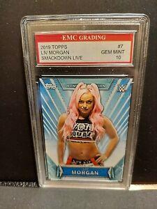 LIV MORGAN  2019 WWE NXT TOPPS TRADING CARD  EMC GRADED 10 MINT