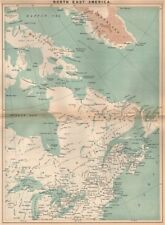 North East America. Canada Maritimes. Great Lakes. New England 1885 old map