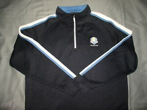 NWT Mens FOOTJOY Pullover Golf Jacket,XL,1/4 Zip,Dark Blue,2016 Ryder Cup $89