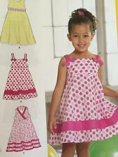 # New Look Sewing Pattern 6613 Childs Girls Dress Size 3-8 New