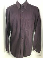 SAVILE ROW Tottinham Twill Mens L Sleeve Shirt Sz 17 34/35 Plaid