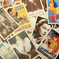 32pcs  Retro Vintage Cards Postcards  European American Super Stars Photo Poster