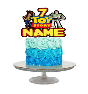 TOY STORY INSPIRED PERSONALISED BIRTHDAY CAKE TOPPER ANY NAME AGE