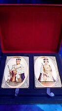 VINTAGE 1937 KING GEORGE V  ELIZABETH CORONATION SEALED PLAYING CARDS. DE LA RUE