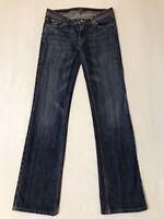 MISS BISOU Women's Jeans SZ 28 Dark Wash Stretch Denim Bootcut Measured 30x33