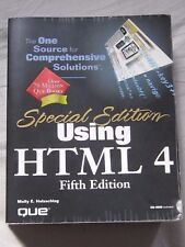 Special Edition Using HTML 4 by Molly E. Holzschlag (1998 Paperback) with CD-ROM