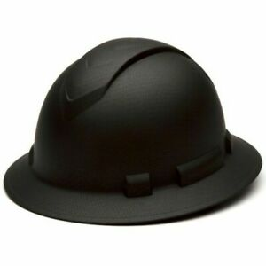 Pyramex HP54117 Ridgeline Full Brim Hard Hat - Black Graphite