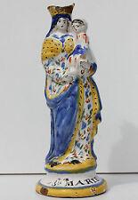 VIERGE EN FAIENCE DE QUIMPER - SAINTE-MARIE - XIX° siècle - H. 26,5 cm