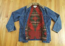 MENS VTG  RALPH LAUREN AZTEC JEAN JACKET SIZE MEDIUM polo sport country denim